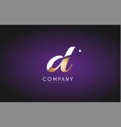 d alphabet letter gold golden logo icon design vector image