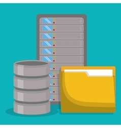 data center related icons image vector image