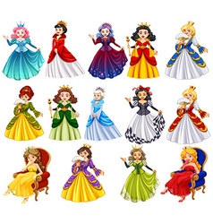 Different characters of queens vector