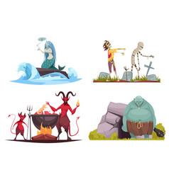 Evil character cartoon concept vector