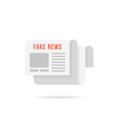 Fake news logo like newspaper with shadow vector