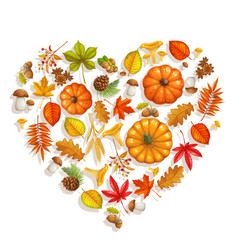 fall banner with autumn foliage vector image