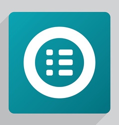 flat list icon vector image