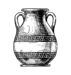 greek vase pelike vector image