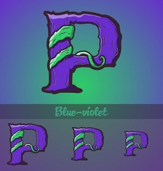 Halloween decorative alphabet - P letter vector