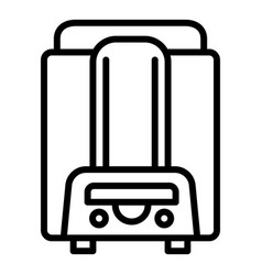 home boiler icon outline style vector image