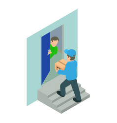 Home delivery icon isometric style vector