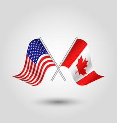 Icon united states of america and canada vector