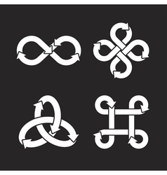 Infinity symbol icons vector