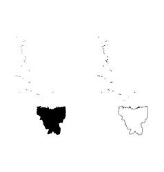 Jakarta map vector