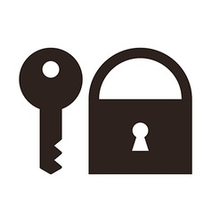 Key and padlock icon vector image