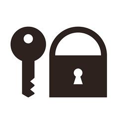 Key and padlock icon vector