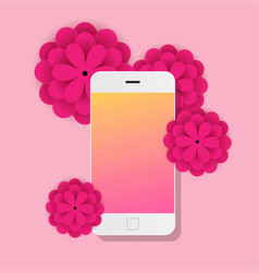 mobile with flowers papers vector image
