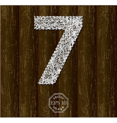 Number Seven vector image