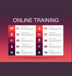 Online training infographic 10 option template vector