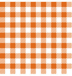 Orange lumberjack seamless pattern vector