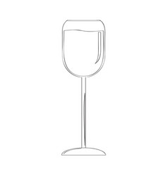 Pair of wine cups outline vector