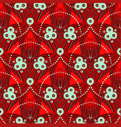 Pattern with geometric motif in art deco style vector