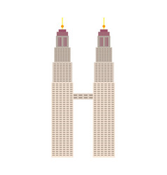 Petronas towers architecture isolated icon vector