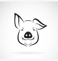 pig head design on white background farm animals vector image