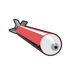 Red torpedo retro vector