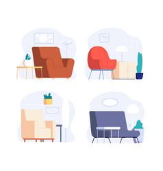 scandinavian interior minimalist room furniture vector image