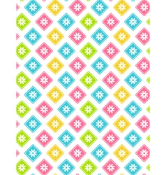 Seamless bright abstract pattern with flowers vector image
