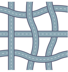 seamless road pattern vector image