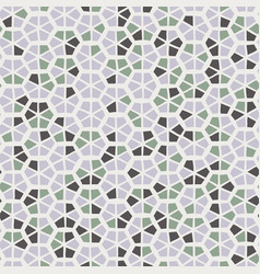 seamless trendy hexagon mosaic tile swatch pattern vector image