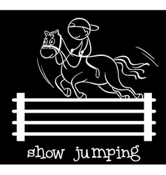 Show jumping vector image
