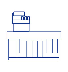 silhouette cash register technology to check vector image