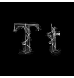 Smoke font Letter T vector image