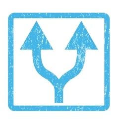 Split Arrows Up Icon Rubber Stamp vector
