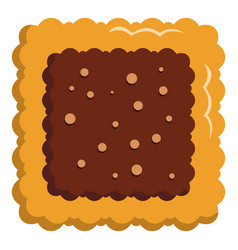 square biscuit icon flat style vector image