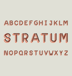 Stratum regular font alphabet vector