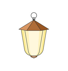 Suspended street lamp easy to edit and change vector
