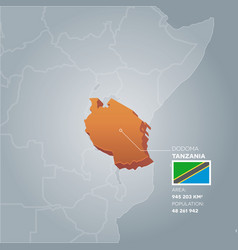 Tanzania information map vector