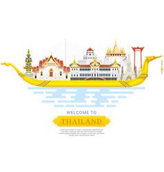 Thailand landmark travel background vector