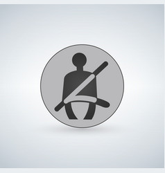 The seat belt warning icon safety belt car symbol vector