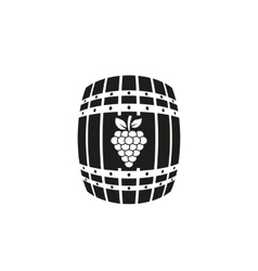 The wine icon Cask and keg alcohol symbol UI vector image