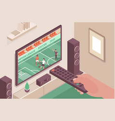 tv sports channel composition vector image