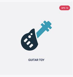 two color guitar toy icon from toys concept vector image