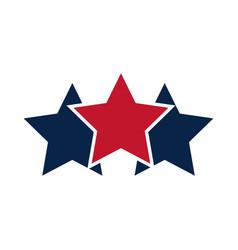 united states elections stars emblem color flag vector image