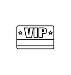 vip card icon vector image