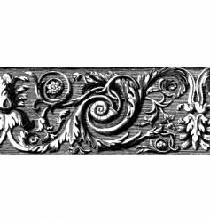 woodcut vector image