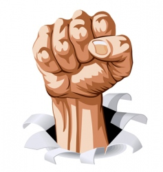 man fist vector image vector image
