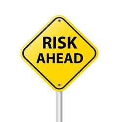 RISK AHEAD vector image
