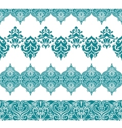 Seamless Borders with Arabic Motifs vector image
