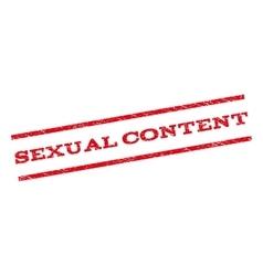 Sexual Content Watermark Stamp vector image vector image