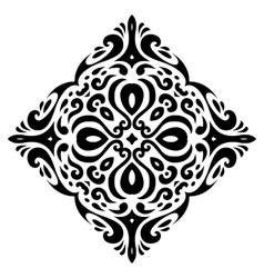 Tribal tatto square shape - vector image